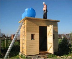 Душевая и туалет для дачи