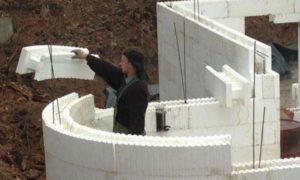 Подготовка пенопласта для опалубки