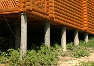 Асбестовые столбы для бани