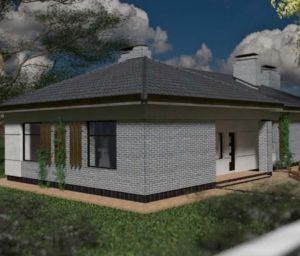 Вид отделки фасадов одноэтажных домов