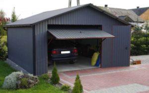 Как изготовить откидные ворота в гараж с подъемным механизмом на  противовесе