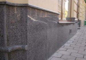 Вариант отделки фасада - Гранит