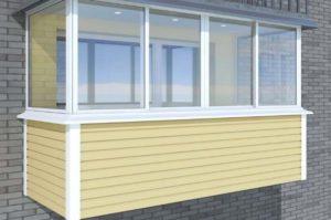 Желтый балкон под сайдинг