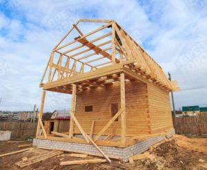 Как строится домик из бруса