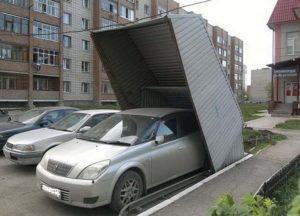 Вид гаража-пенала