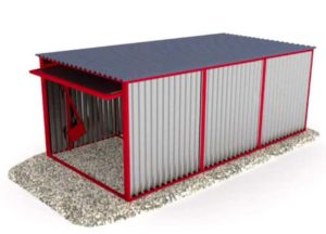 Трехмерная модель гаража-пенала