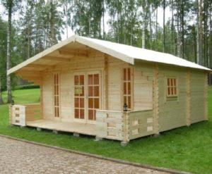 Красивый домик из бруса