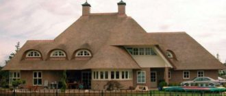 Вид крыши камышовой