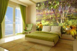 Фотообои Природа в спальне