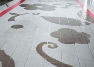 Краска на полу