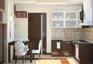 Модель коричневой кухни