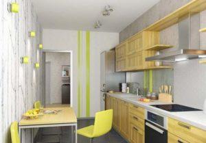 Кухня с открытой полкой