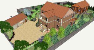 Рисунок ландшафта участка у дома