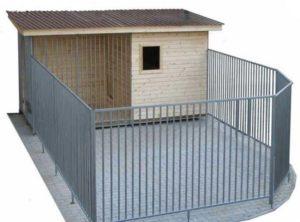 3Д модель на собачий вольер