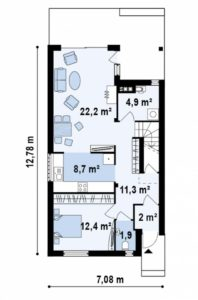 Планировка дома на узком участке