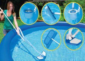 Механический способ чистки бассейна