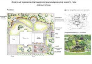 Схема ландшафта участка у дома