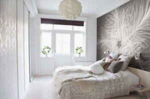 Фотообои абстракция в спальне