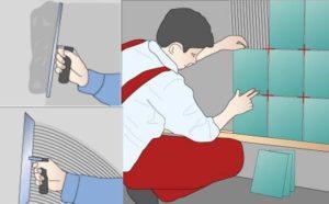 Рисунок укладки плитки
