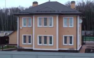 Вид фасада с пеноплексом