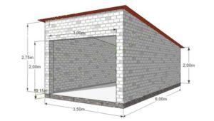 Строительство гаража. Чертеж