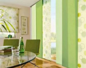 Панели салатового цвета