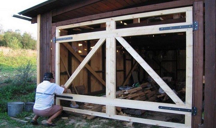 как крепить гаражные ворота