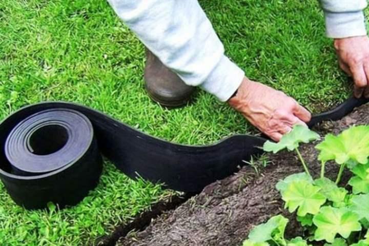 Пластиковый бордюр садовый