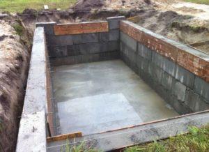 Подвал при строительстве фундамента