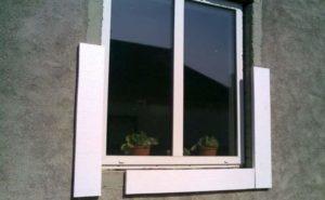 Окно с рамой утепления