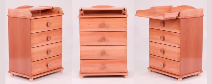 Мебель для детской цвета орех