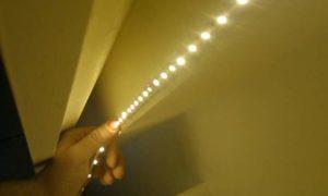 Лента светодиодов под потолок