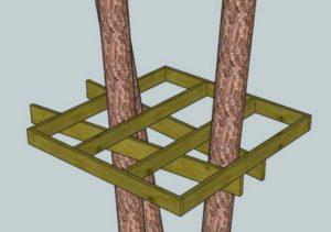 Платформа дома на дереве