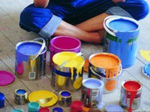 Покраска стен цветом
