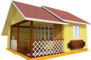 Вариант летнего домика для кухни