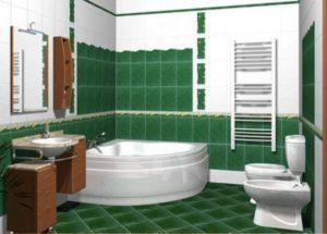 Проект ванной в деревянном доме