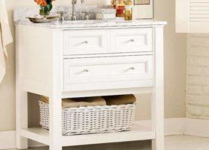 Белая мебель ванной
