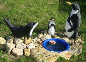 Пингвины из пенопласта