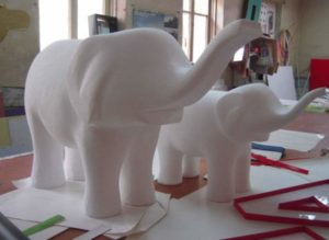 Слоны из пенопласта