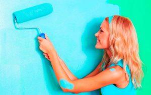 Акриловая краска для стен в ванной