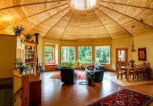 Крыша круглого дома