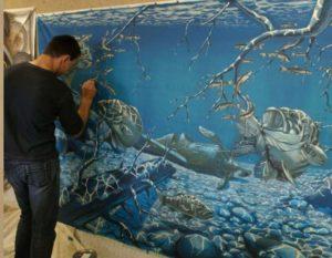 Морская тема для росписи стен