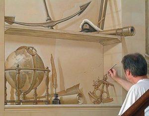 Научная тема для росписи стен