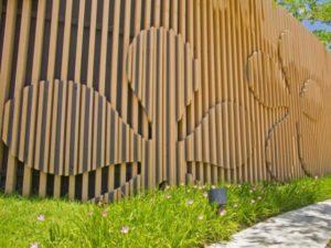 Забор в форме цветка