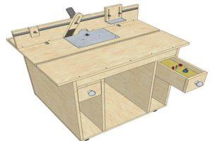 Модель самодельного стола для фрезерных работ
