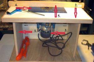 Фото самодельного стола для фрезерных работ