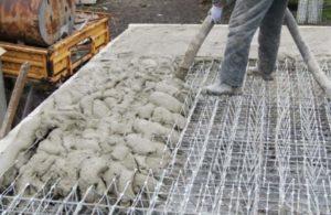 Плита перекрытия из залитого бетона