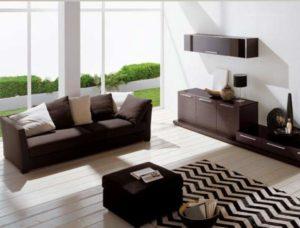 Подушки в гостинной минимализма