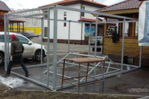 Основа гаража из панелей СИП