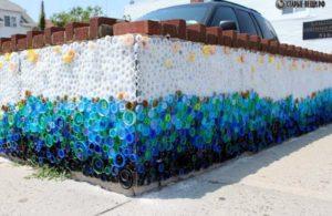 Начало мозаики на стене